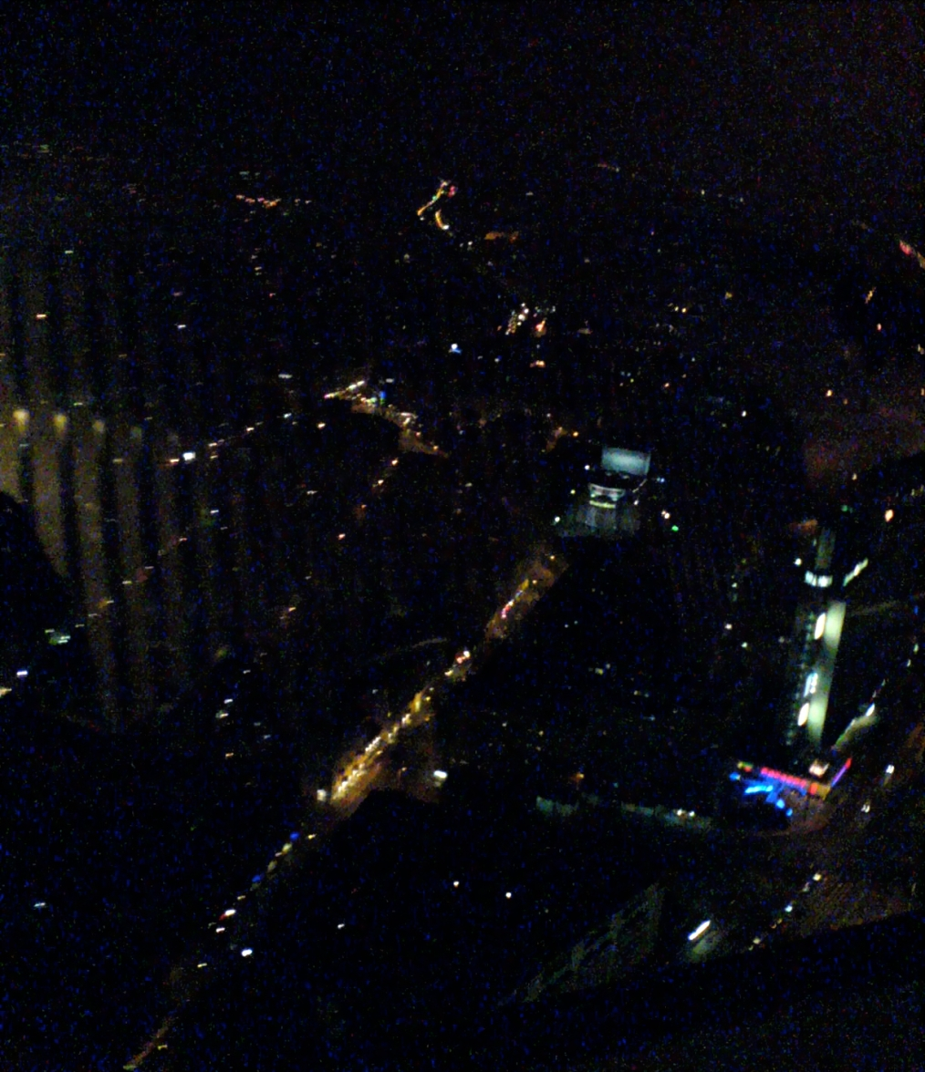 view from tv tower berlin, where concert took place at 10-11pm